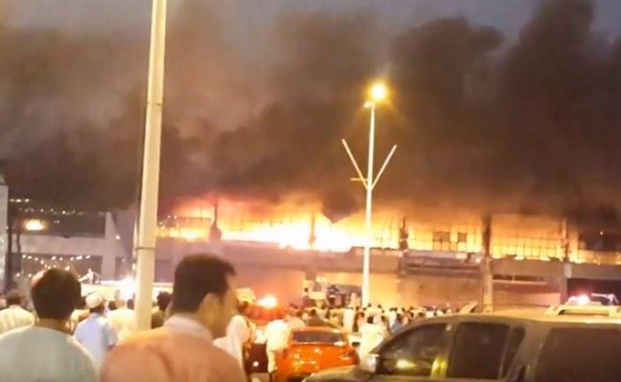 فيديو ?حريق مجمع توب سنتر قبل افتتاحة بجازان