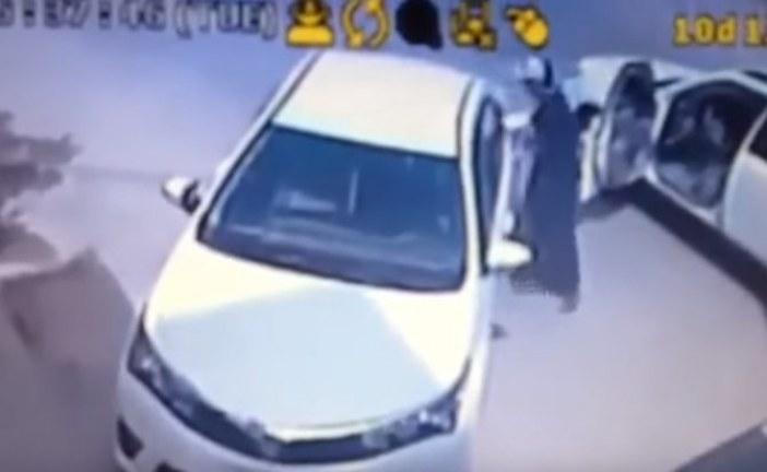 بالفيديو ?مواطن يقبض على لص حاول سرقة سيارته فى الدمام