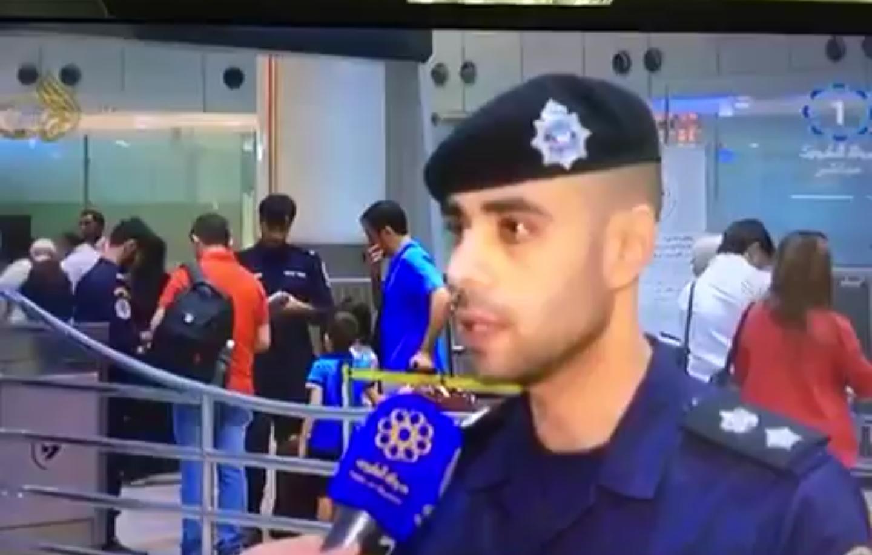 ?إغماء ظابط كويتي خلال لقاء تلفزيوني مباشر
