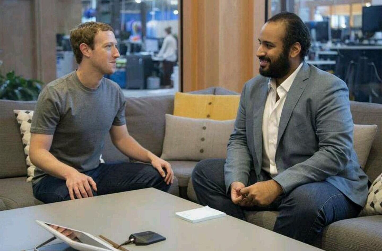 بالصور ولي ولي العهد يلتقي مؤسس الفيسبوك