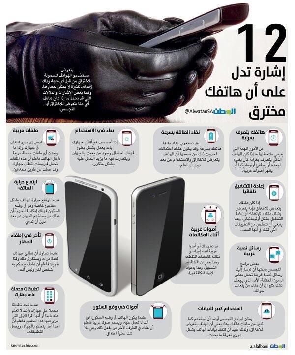 12 إشارة تدل على أن هاتفك مخترق