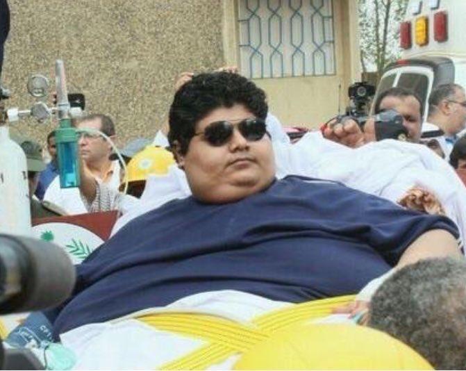صورة حديثة لمريض السمنة خالد الشاعري بعد 3 سنوات علاجه بأمر الملك عبدالله رحمه الله