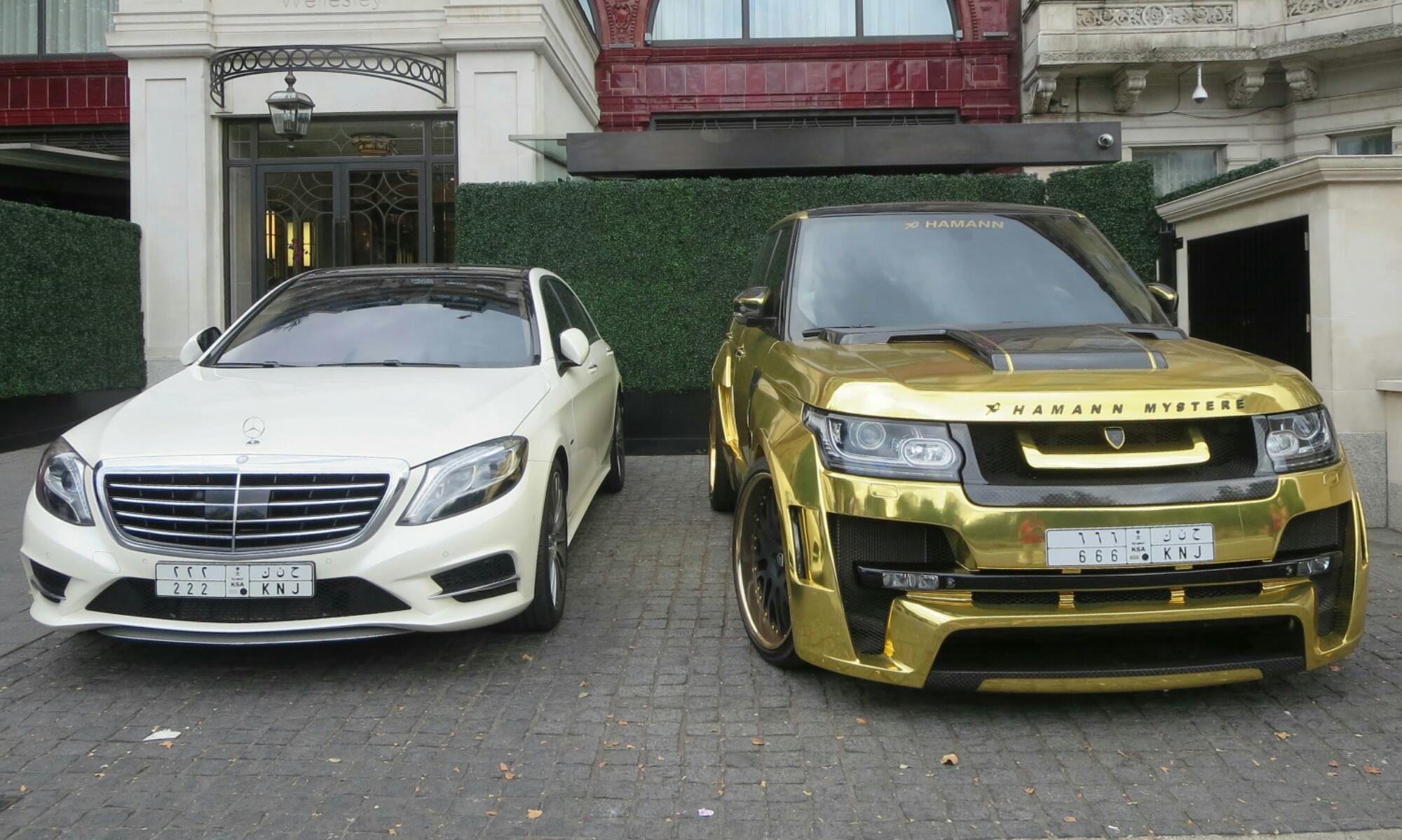 بالصور سيارات الأثرياء الخليجين في لندن وازعاجهم