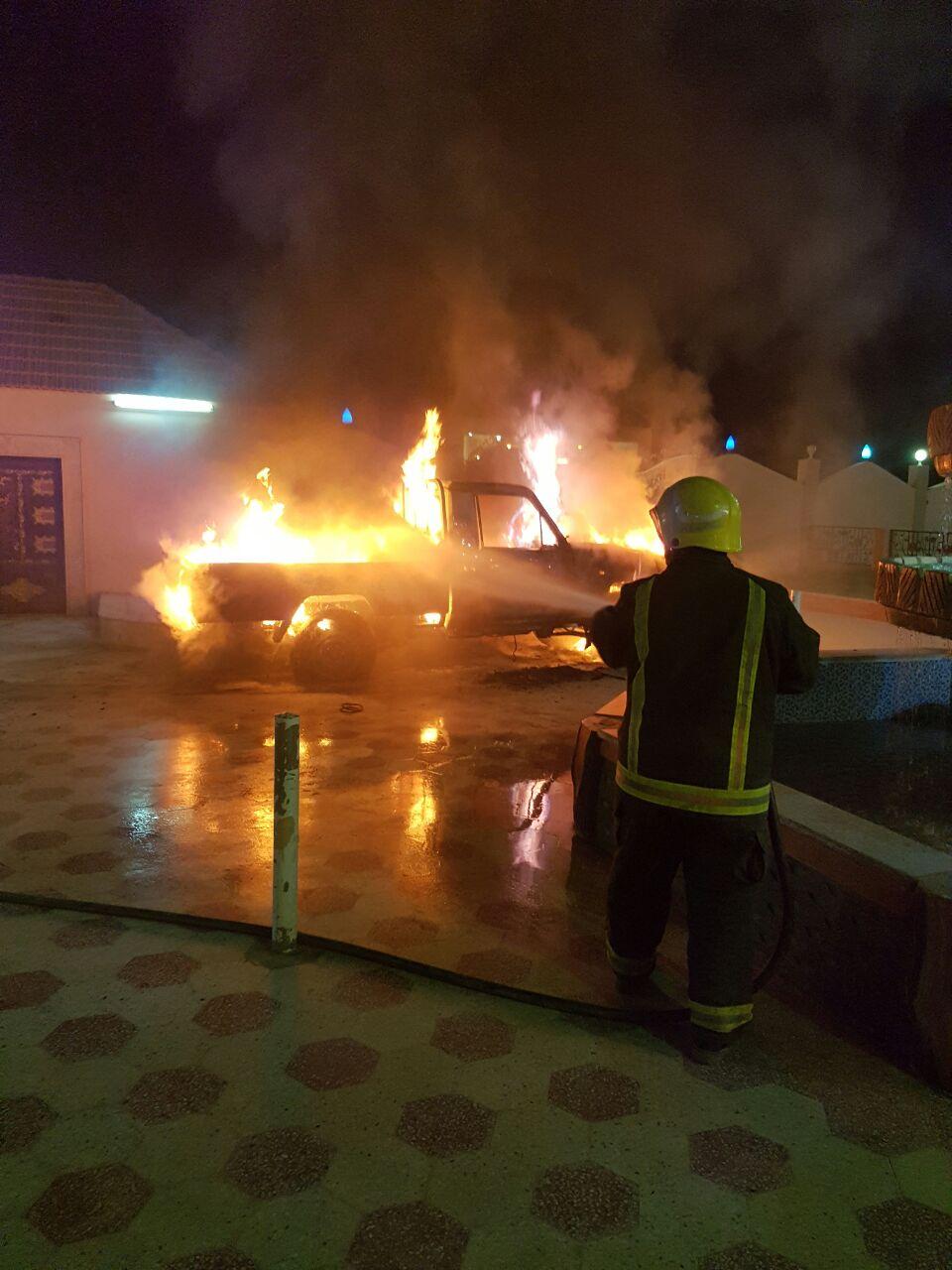 """صور و فيديو """"جيب """"شاص"""" في حفل زفاف يحترق  وتلتهمه النيران أمام المدعوين !"""