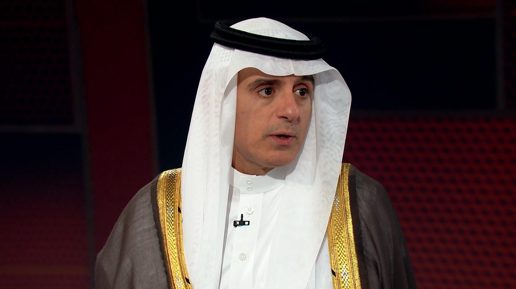 """شاهد كيف رد عادل الجبير على تصريح """"ترامب"""" عن المملكة"""