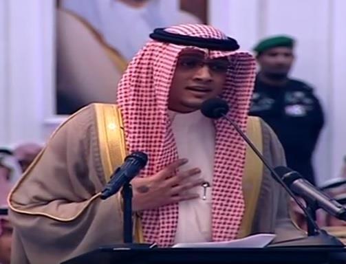 إلقاء حيدر العبدالله أمام الملك يثير تباينا بين الانتقادات والرضا.. والشاعر: الصراخ وسيلة العاجز