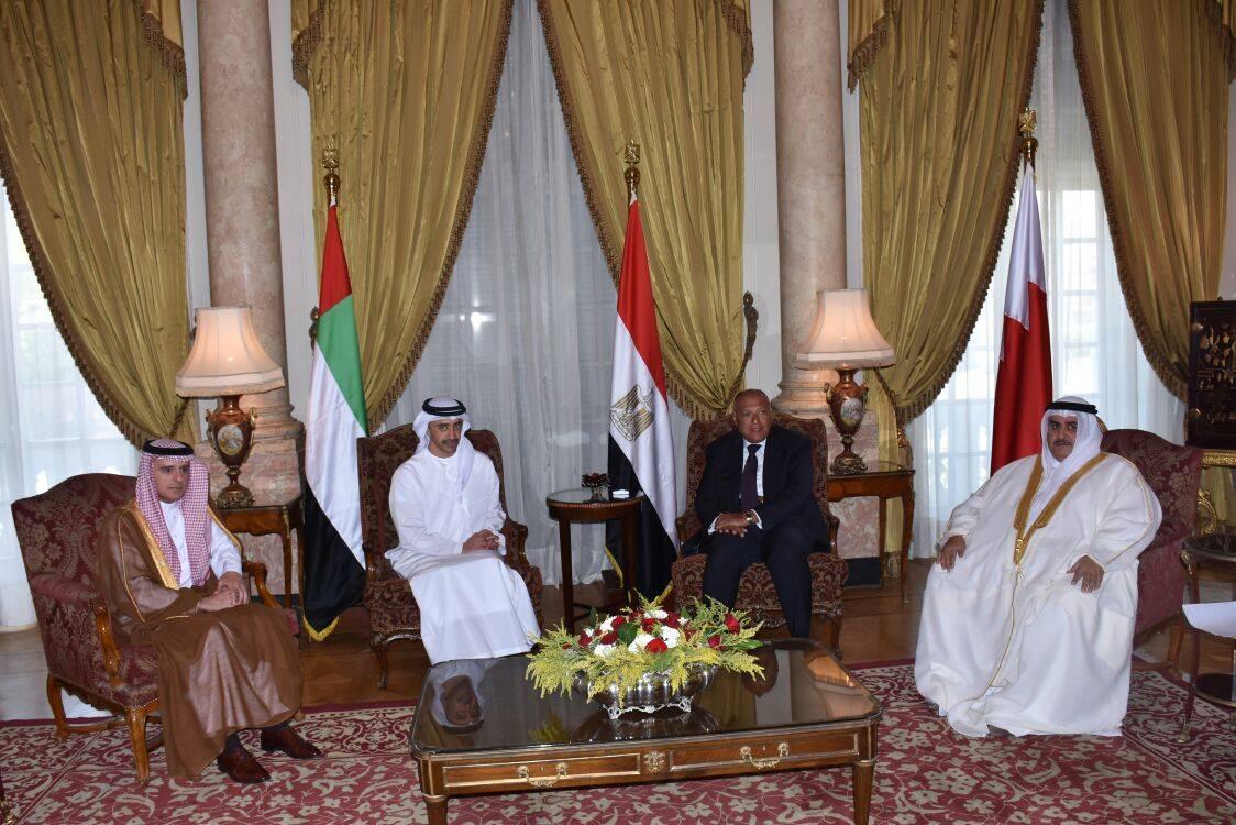 بيان مشترك لوزراء خارجية الدول الأربع ..المقاطعة لقطر