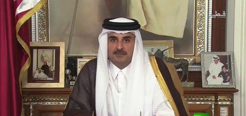 بالفيديو .. شاهد.. كلمة أمير قطر للمرة الأولى منذ بداية الأزمة الخليجية