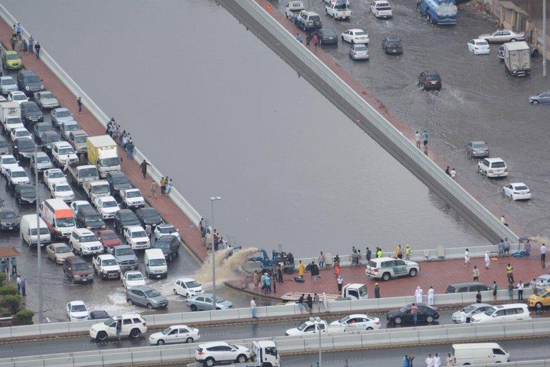 شاهد صور جوية لمدينة جدة بعد الأمطار
