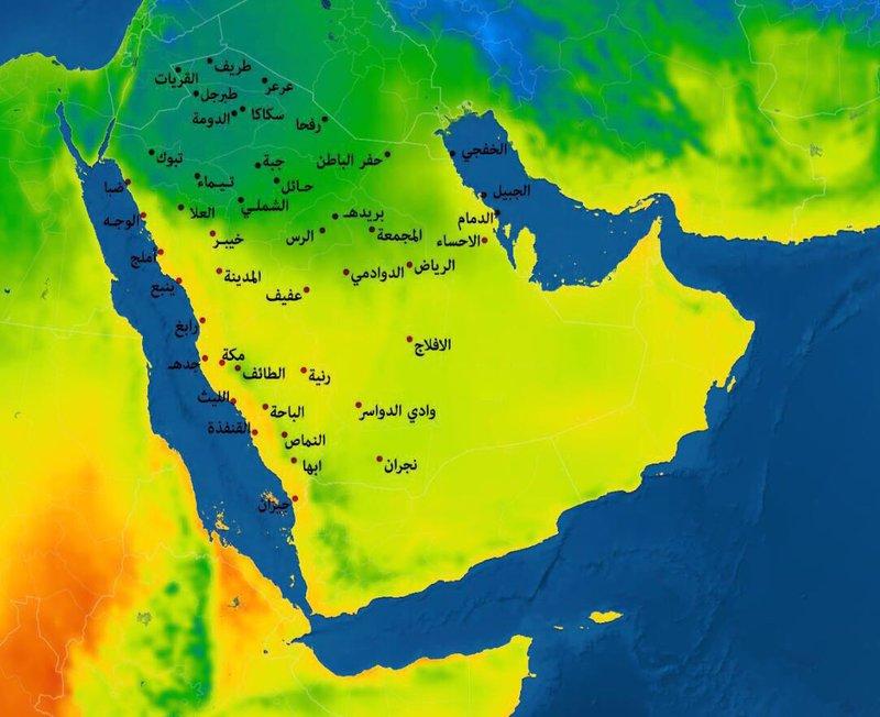 تحذير سكان المملكة كتلة هوائية باردة تتسبب بانخفاض درجات الحراة لما دون الصفر.. التفاصيل