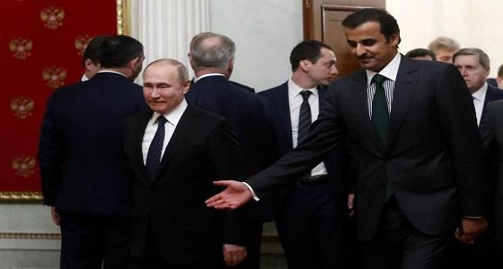""""""" بوتين يكرش تميم """" .. صفعة جديدة في وجه قطر"""