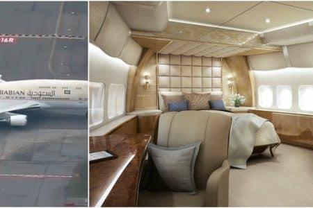 مصممة لأهم الشخصيات في العالم.. شاهد: نموذج مشابه لطائرة ولي العهد محمد بن سلمان