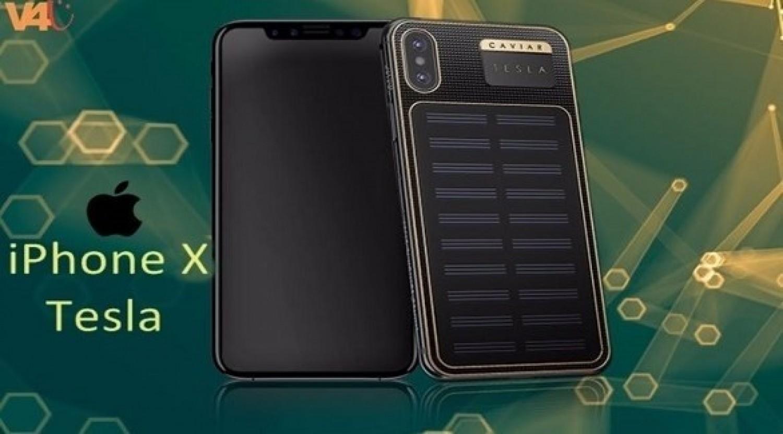 «آي فون إكس تسلا».. هاتف فاخر بخلايا شمسية من كافيار