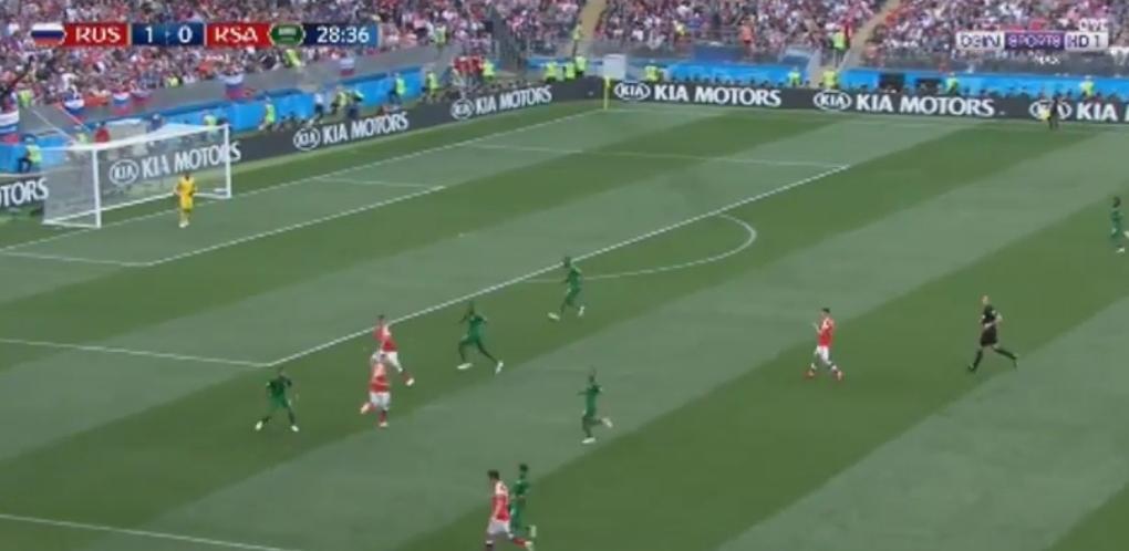 شاهد أهداف مباراة روسيا و السعودية 5/0 إفتتاح كأس العالم