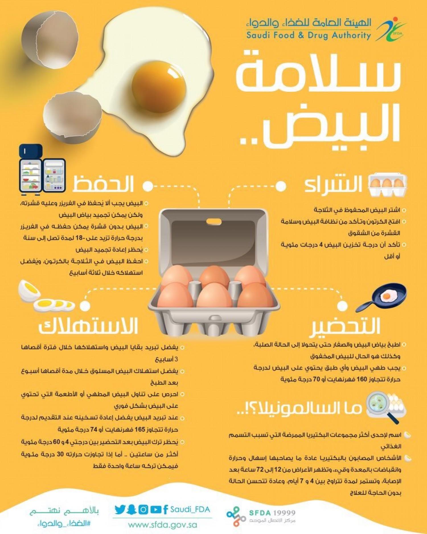 بالإنفوجرافيك.. «الغذاء والدواء» تقدم نصائح مهمة لتخزين البيض وطهيه