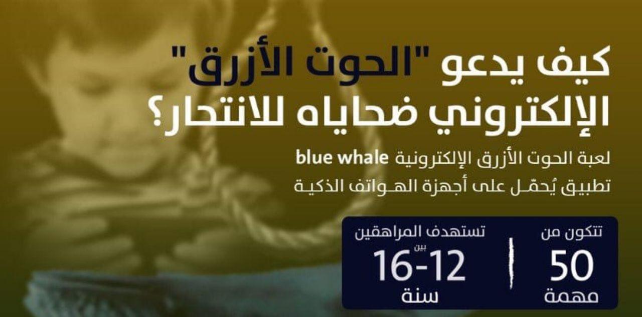 كيف يدعو الحوت الأزرق الإلكتروني  ضحاياه للإنتحار… التفاصيل
