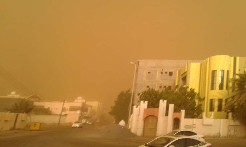 أحد ممطر مع غبار على 4 مناطق