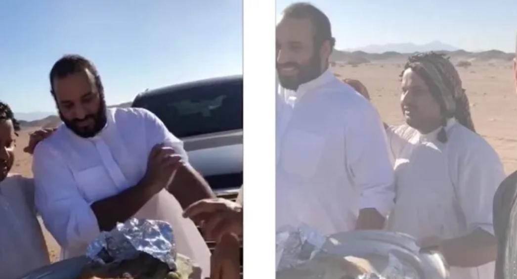 حقيقة أكل ولي العهد محمد بن سلمان بـ يده اليسار !!!