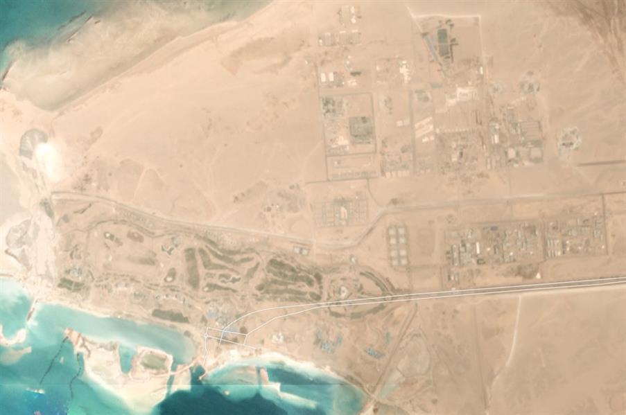 """صور فضائية تظهر حجم العمل المُنجز في """"نيوم"""" خلال فترة وجيزة"""