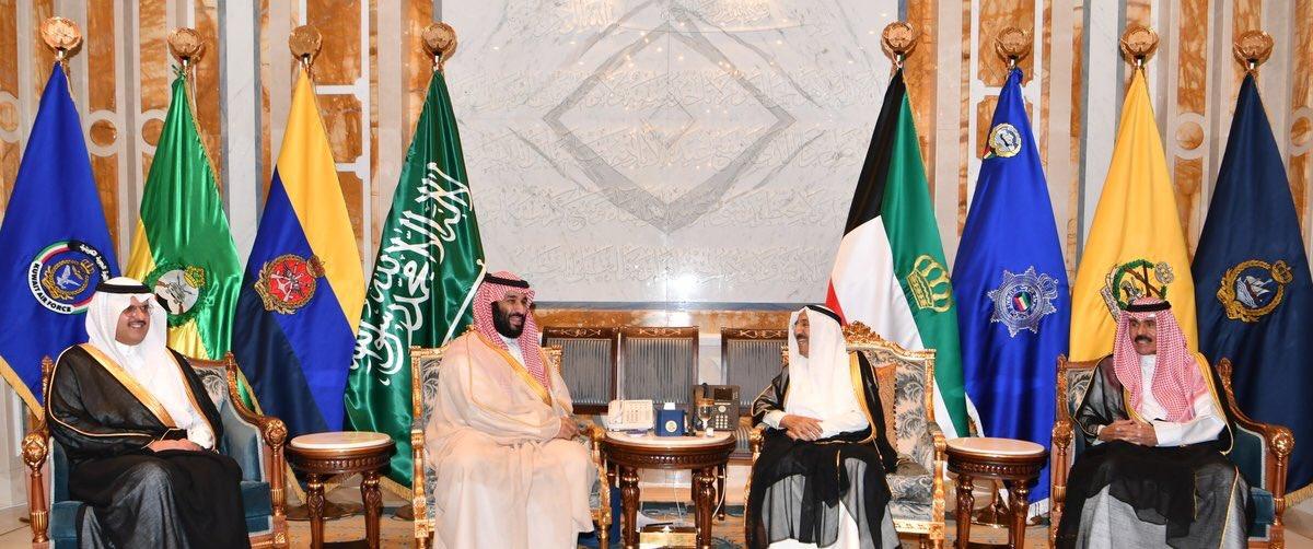 في قصر بيان .. أمير الكويت يستقبل محمد بن سلمان