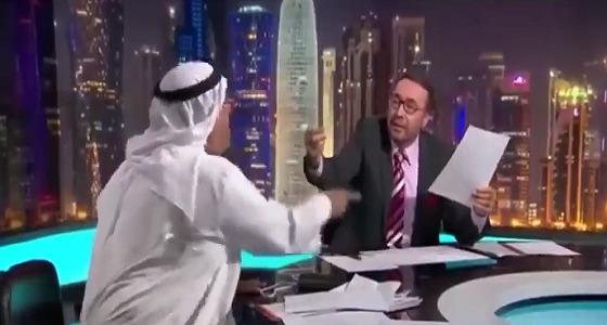 بالفيديو عايد المناع يمسخر فيصل القاسم مذيع الجزيرة @kasimf