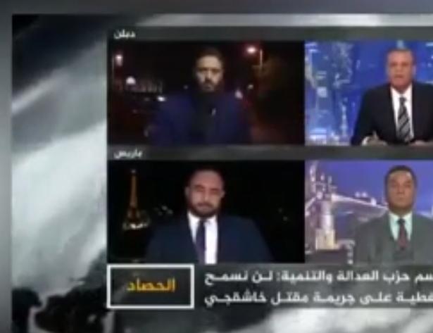 مذيع الجزيرة حاول الإساءة للسعودية وحكامها مباشرة على الهواء وهذا ما حصل