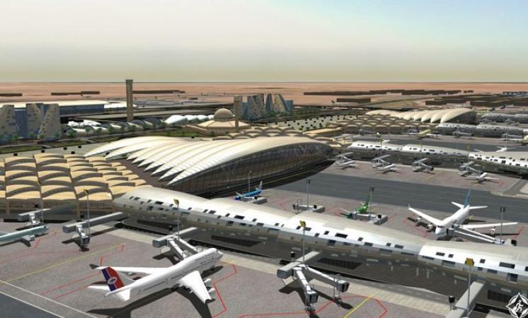 حريق بمطار الملك عبدالعزيز الدولي