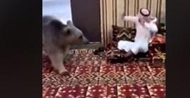 فيديو.. خليجي يدخل في عراك مع دب عملاق