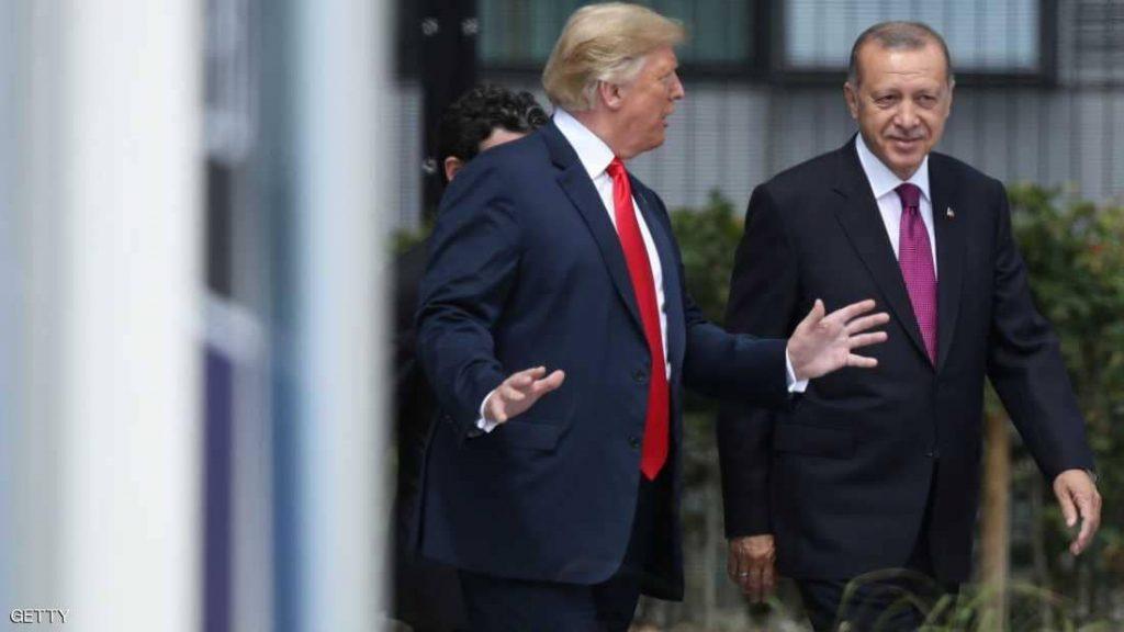 """بعد التهديد الأمريكي لتركيا.. أردوغان وترامب يبحثان """"المنطقة الآمنة"""""""