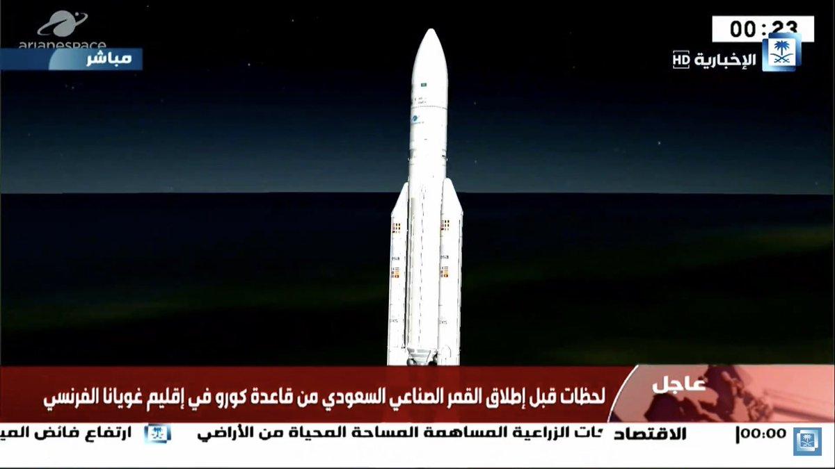 نجاح إطلاق القمر السعودي للاتصالات SGS-1 بتوقيع محمد بن سلمان