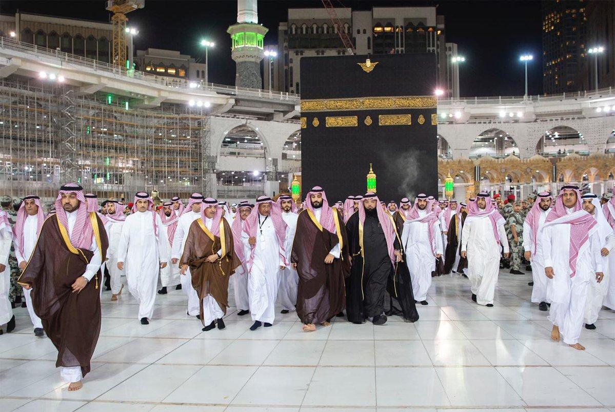 فيديو وصور.. الأمير محمد بن سلمان يزور الحرم المكي الشريف ويطلع على مشروع التوسعة
