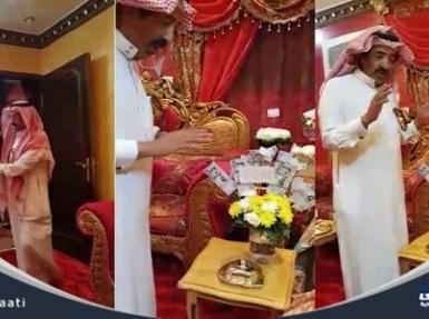 بالفيديو.. مواطن يكافئ زوجته بهدية وقبلة رأس بعد عشره 36 عاما