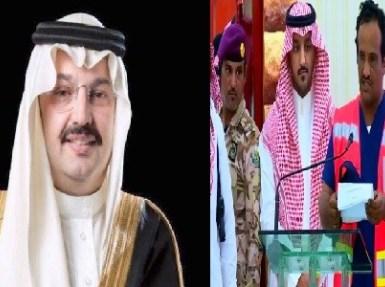 بالفيديو شاهد ماذا فعل المواطن أمام  أمير عسير و أمام الحضور!!