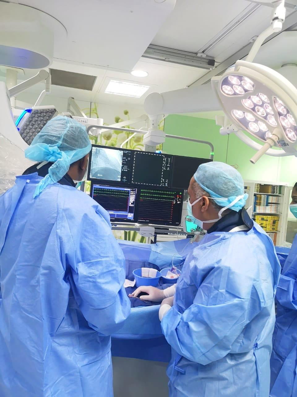 قسطرة قلبية ناجحة باستخدام تقنية Rotablator في نجران