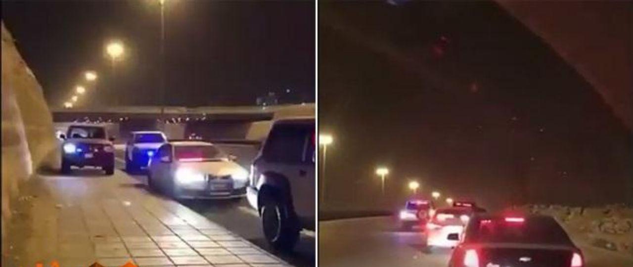 بعد مطاردات هوليودية ليلًا.. شاهد : سناب الداخلية يوثق لحظة القبض على 3 مركبات ويكتشف مفاجآت داخل إحداها !