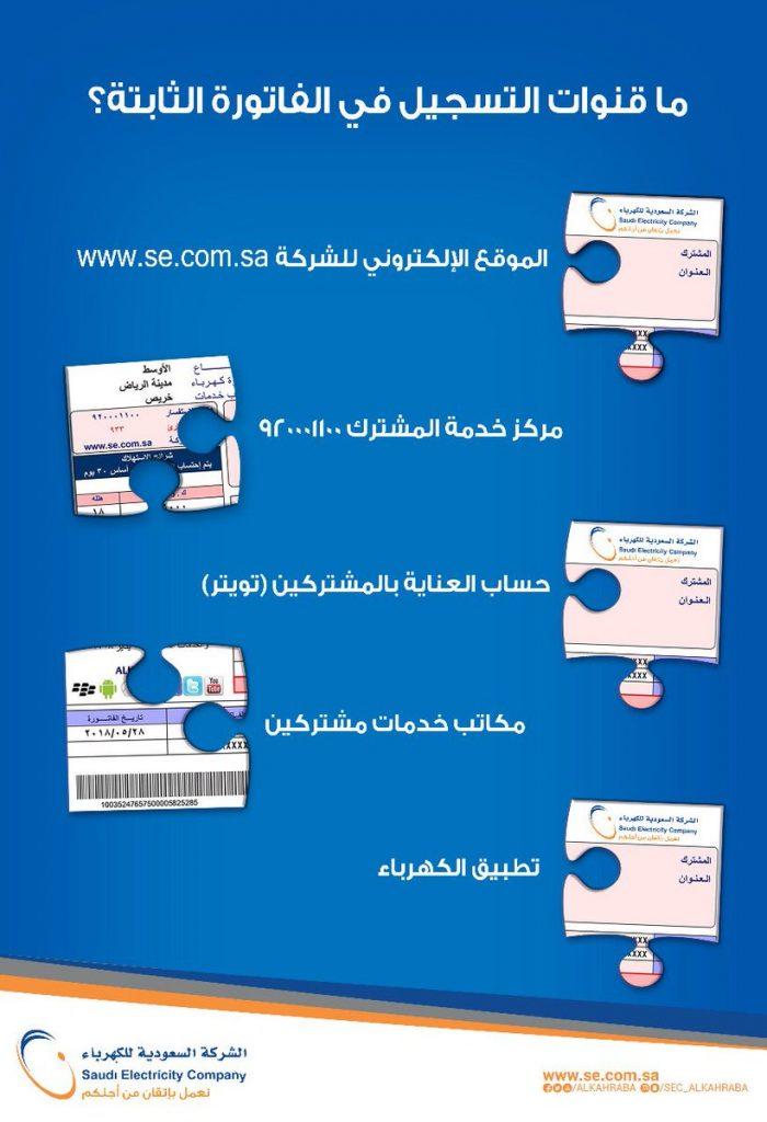"""""""السعودية للكهرباء"""" تُوضح لمشتركيها طريقة التسجيل في خدمة الفاتورة الثابتة"""