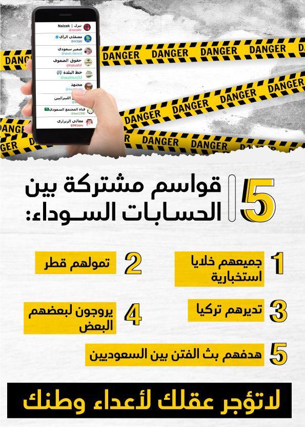 5 قواسم تجمع الحسابات السوداء وفيديو يفضح نيزك قطر