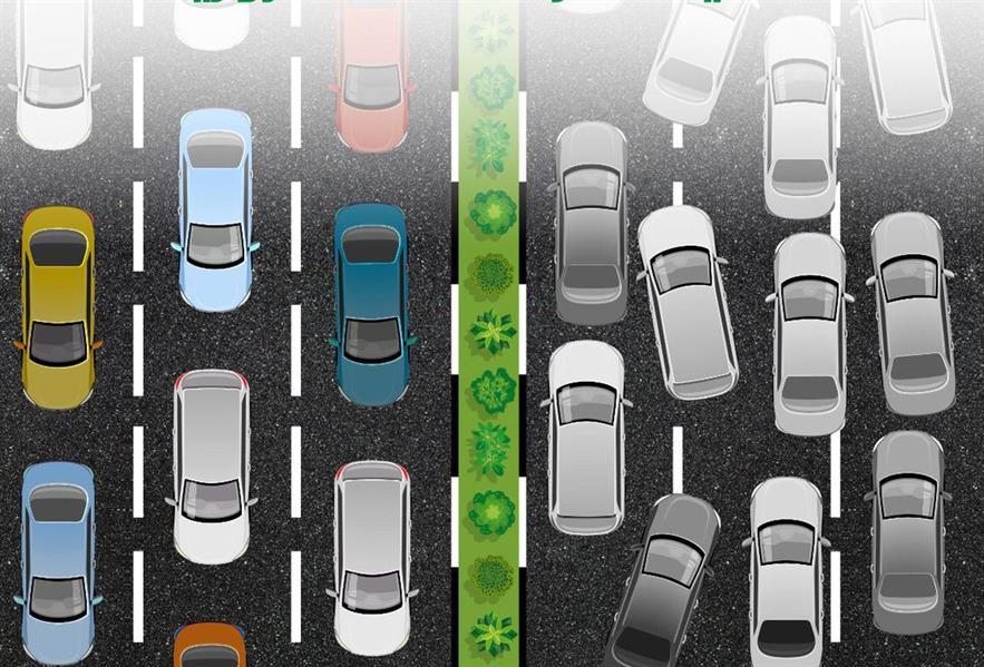 """""""المرور"""" يحذر قائدي المركبات من التنقل بين المسارات"""