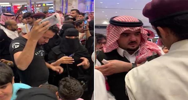 فيديو.. الأمير عبدالعزيز بن فهد يتجول في أحد المولات الشهيرة بالرياض