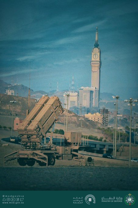 """""""وزارة الدفاع"""" تنشر صور لـ""""مضادات الصواريخ"""" في مكة"""