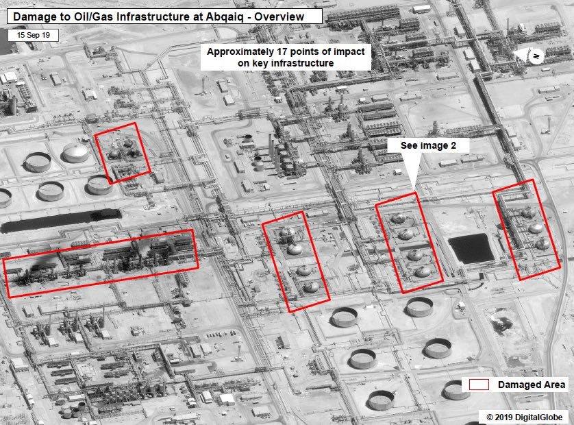 بالصور .. #وزارة_الدفاع #السعودية تعرض صوراً للصواريخ الإيرانية التي استهدفت منشآت النفط في #بقيق و #خريص