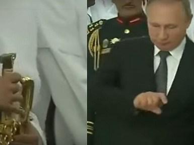 بالفيديو.. « بوتين » يهتم بخنجر لحرس الشرف والملك يأمر بعرضه