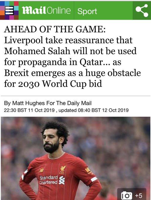 قطر ترضخ و  تتعهد و السبب اللاعب محمد صلاح !