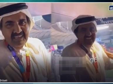 فيديو مخزي.. أمير قطر السابق يتباهى بإعتقال أحد القطريين «كم مرة سجنتك»؟