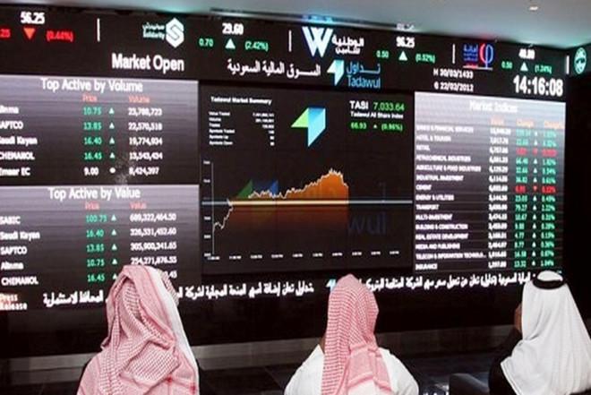 مؤشر سوق الأسهم السعودية يغلق مرتفعًا عند مستوى 7874.58 نقطة