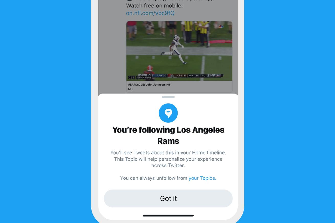 تويتر تطلق ميزة Topics لتصفح تغريدات حسب اهتمامك