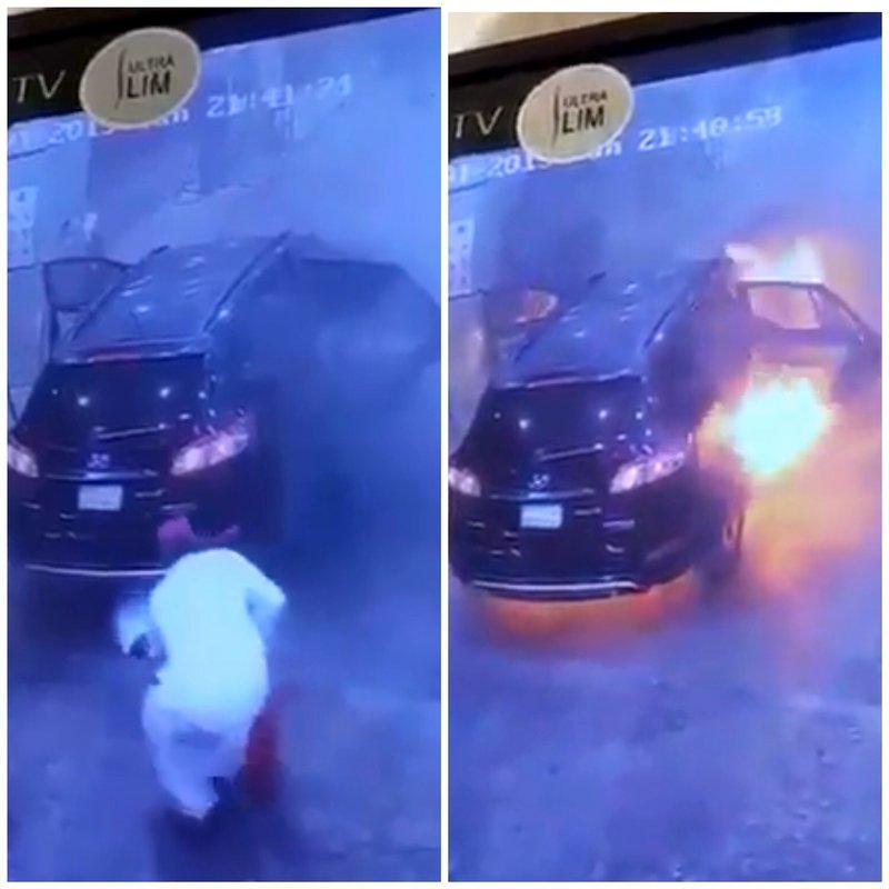 كاميرات مراقبة ترصد بطولة مواطن أخمد حريقًا في مركبة أثناء تعبئة الوقود