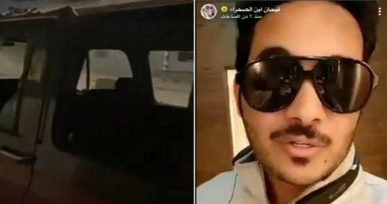 """شاهد : اعتداء وتكسير سيارات ومنزل المشهور """"فيحان"""" أثناء غيابه"""