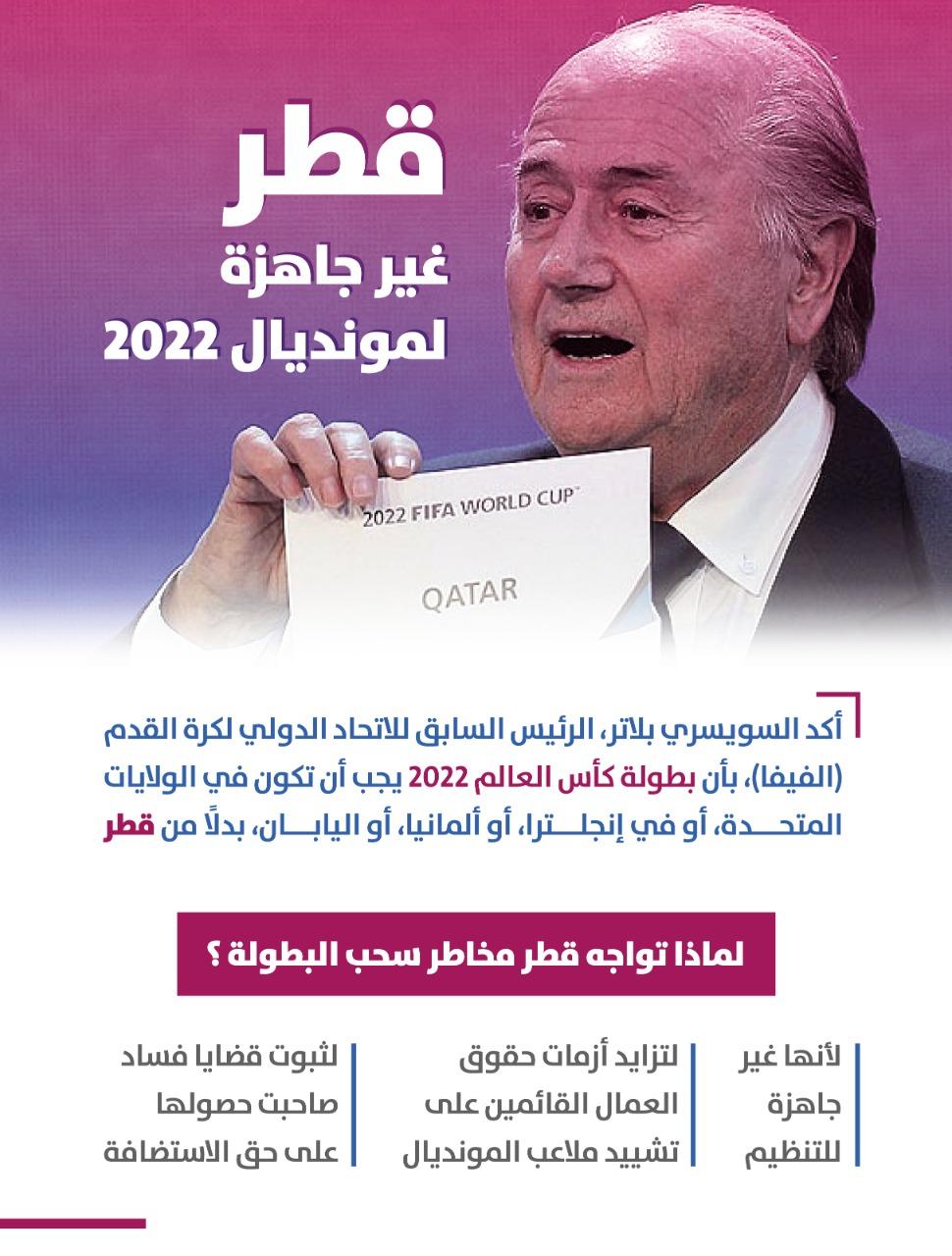 قطر غير جاهزة لمونديال ٢٠٢٢