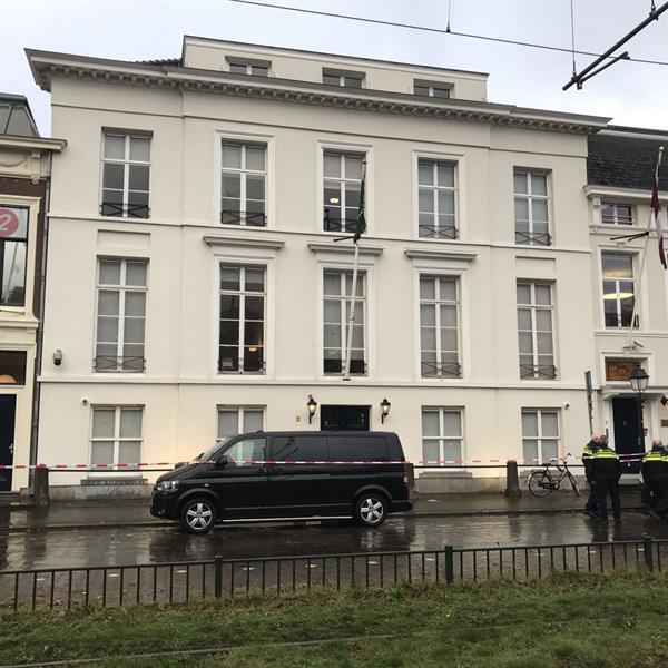 بالصور .. تعرض السفارة السعودية  في هولندا لإطلاق نار و الكشف عن حالة منسوبيها